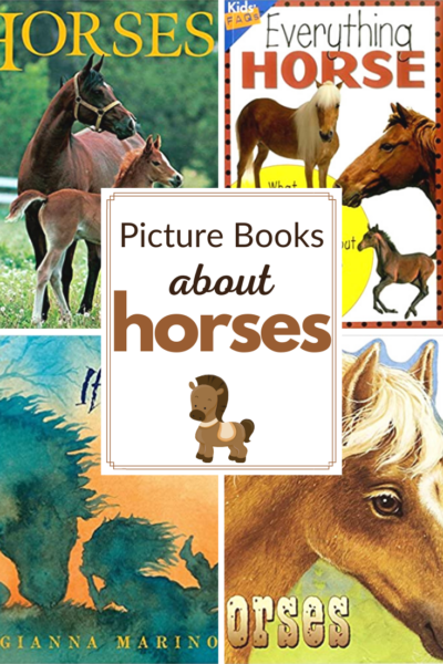 Fill your book baskets with horse books for kids. This collection of fiction and nonfiction picture books is perfect for animal lovers!