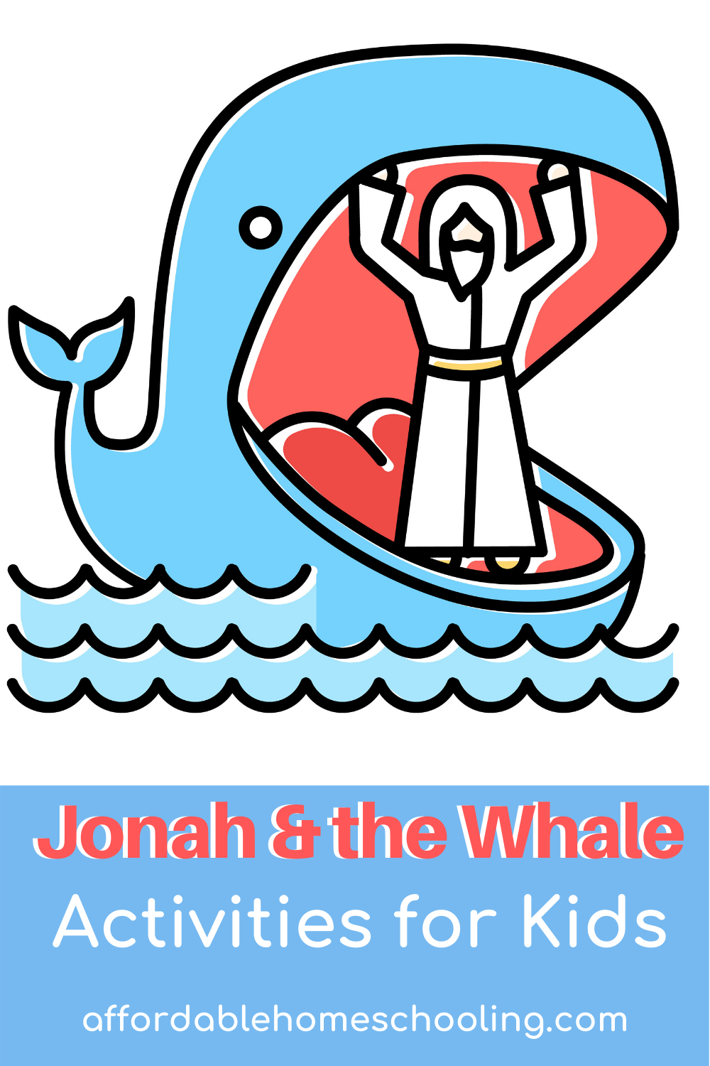 These Jonah and the Whale activities are perfect for homeschool, Bible school, and Sunday school lessons. Hands-on Bible fun for kids!
