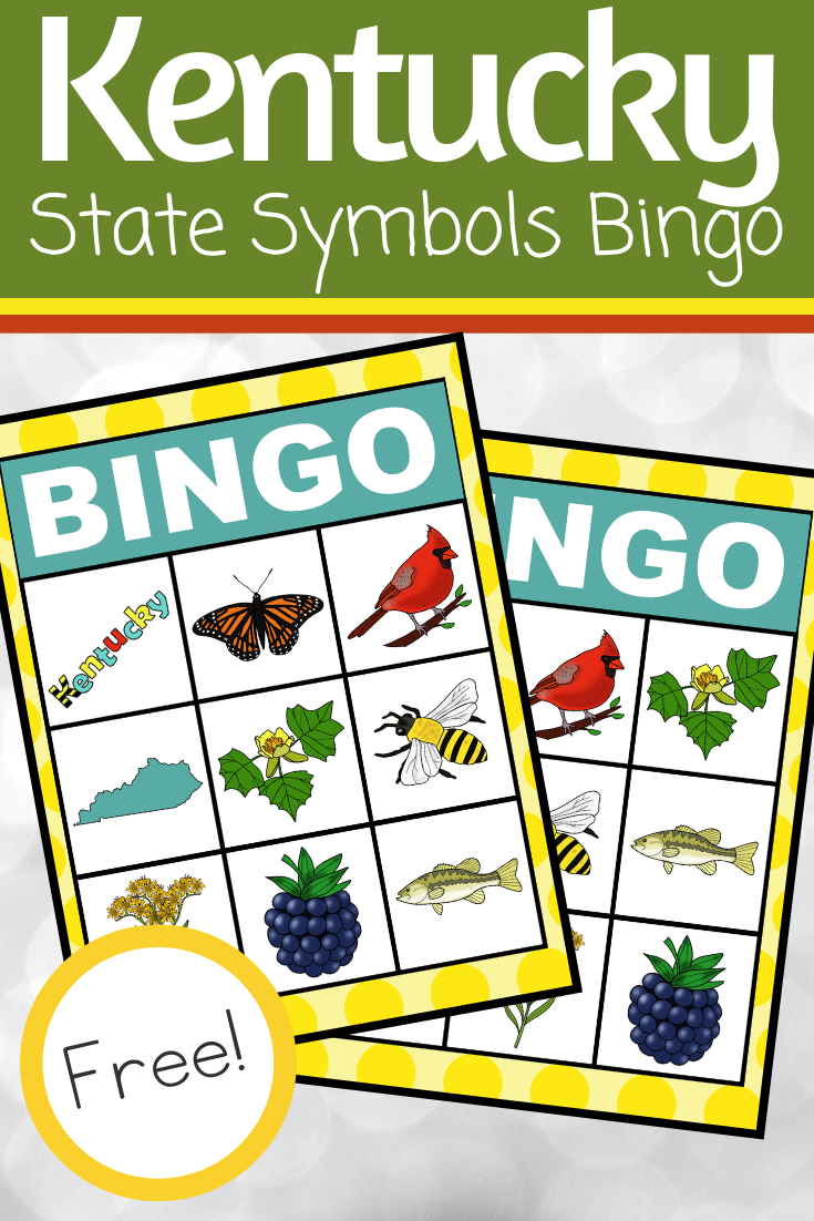 Use this printable Kentucky State Symbols Bingo game to introduce or review interesting facts about Kentucky. This set includes six boards!