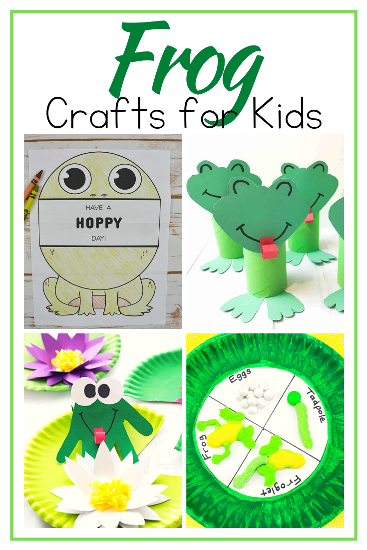 Hop on over to discover 10 fabulous frog crafts for kids! You'll find paper plate crafts, printable crafts, life cycle crafts, and more!