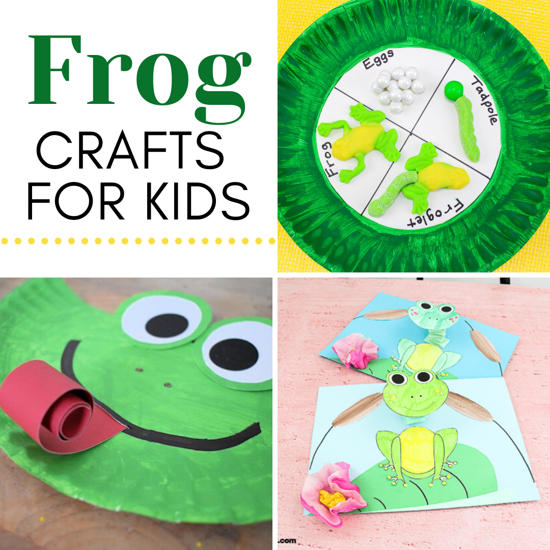 Hop on over to discover 25 fabulous frog crafts for kids! You'll find paper plate crafts, printable crafts, life cycle crafts, and more!