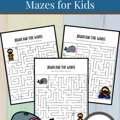Jonah and the Whale Mazes
