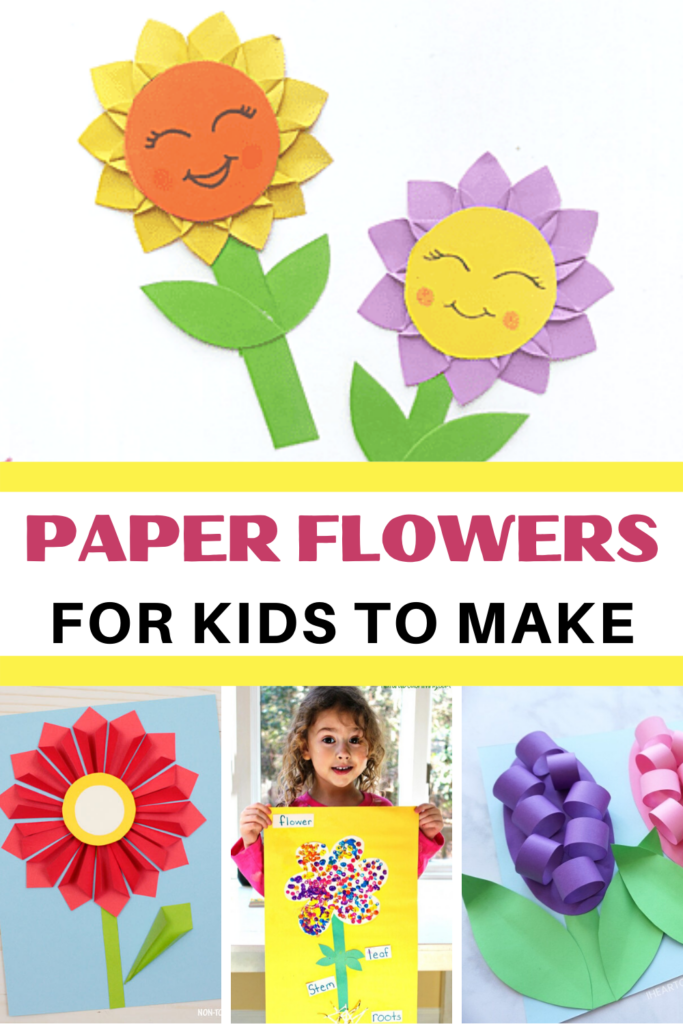 These paper flowers are so much fun for kids to make! Add them to your spring and summer lesson plans for a little creative exploration.