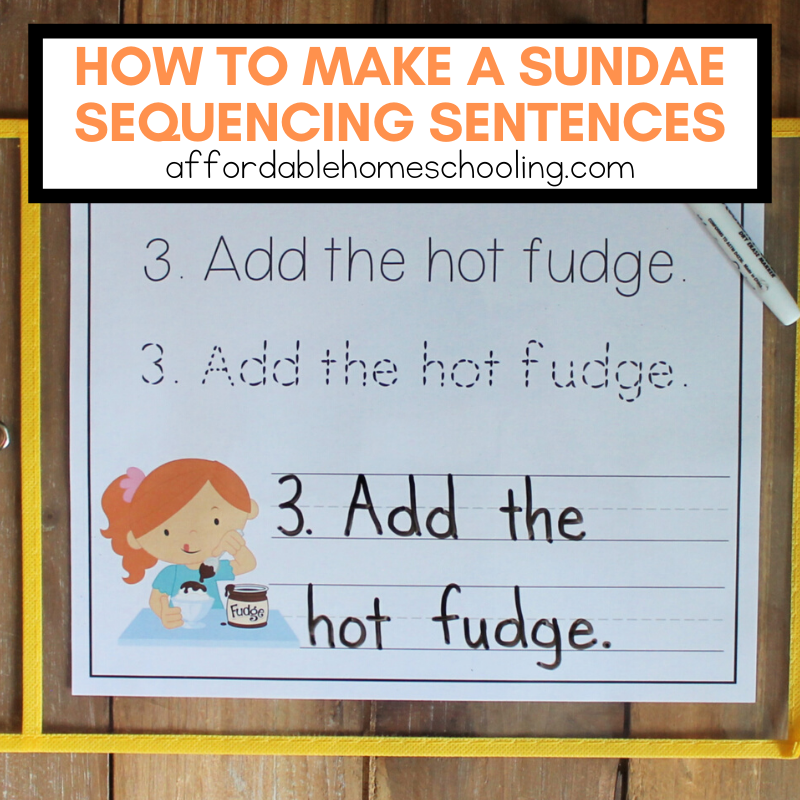 This How to Make a Sundae sequencing activity is perfect for young learners. They'll practice handwriting and sequencing at the same time!