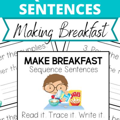Make Breakfast Sequence Sentences