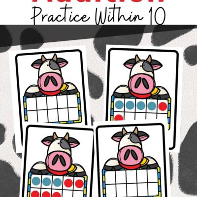 Cow Ten Frame Addition
