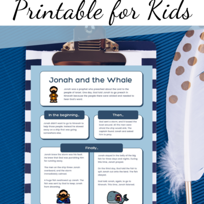 Jonah and the Whale Printable