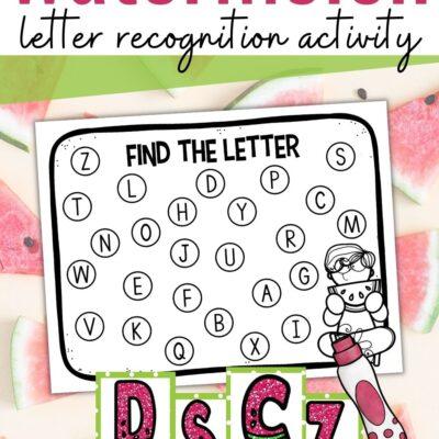 Watermelon Letter Recognition Activity