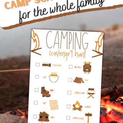 Camping Scavenger Hunt Clues