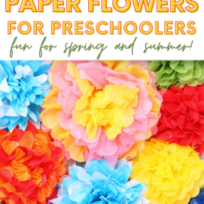 Easy Paper Flowers for Preschoolers