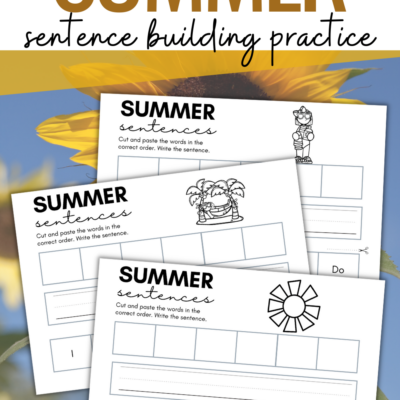 Summer Cut and Paste Worksheets