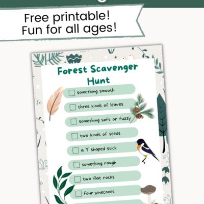 Forest Scavenger Hunt Printable