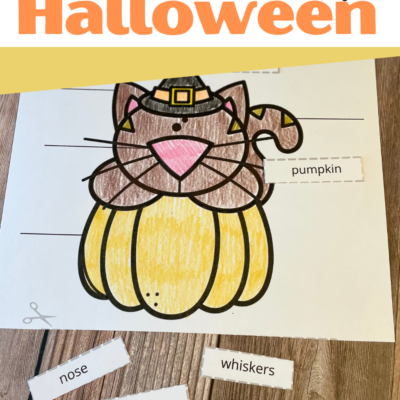 Halloween Labels Cut and Paste Worksheets