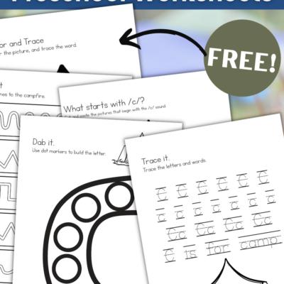 Free Printable Camping Worksheets